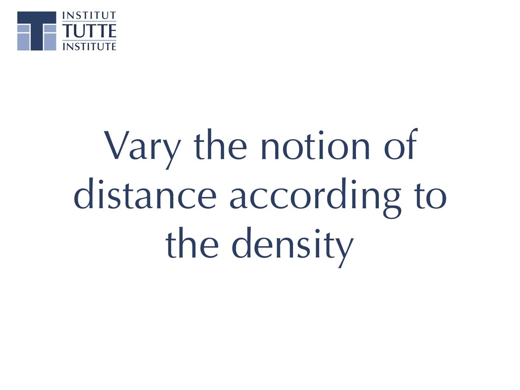 Vary the notion of distance according to the de...