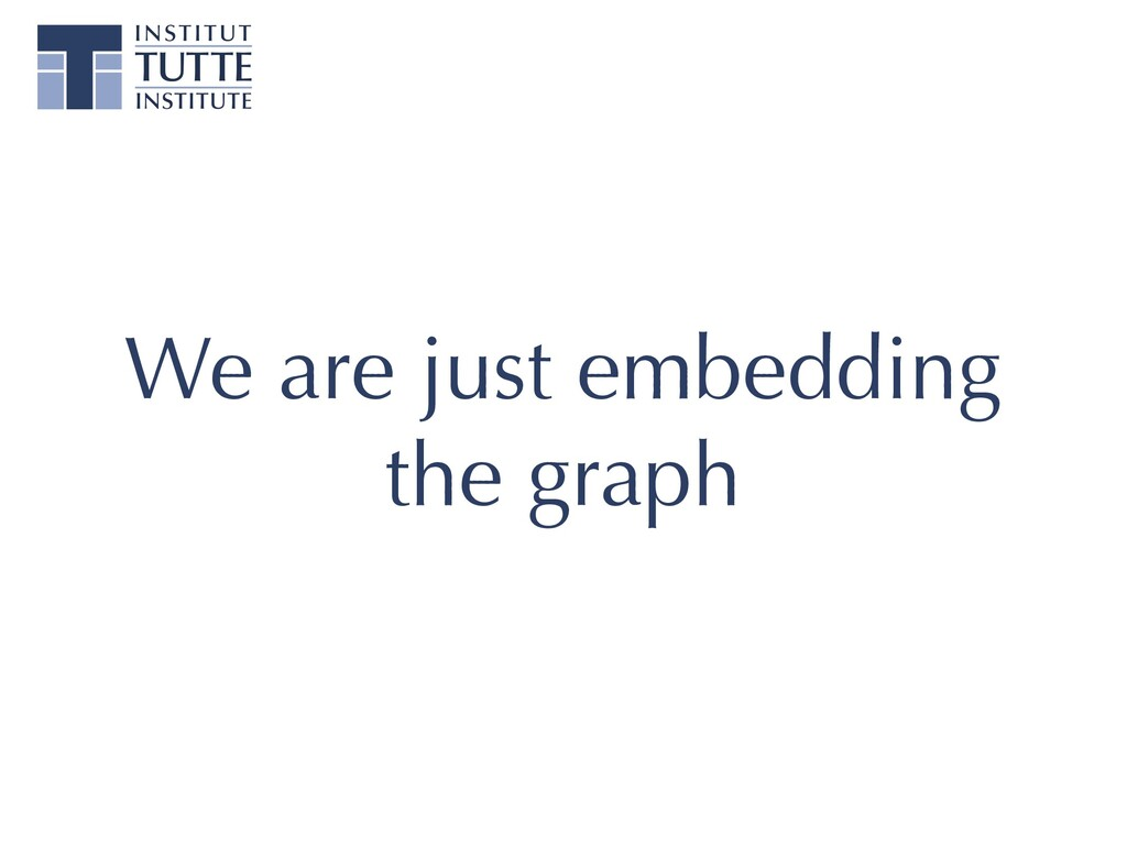 We are just embedding the graph