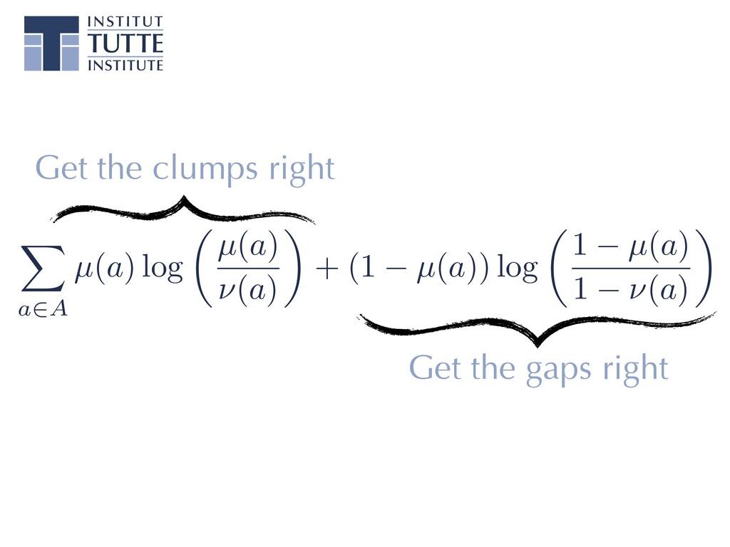 X a2A µ(a) log ✓ µ(a) ⌫(a) ◆ + (1 µ(a)) log ✓ 1...