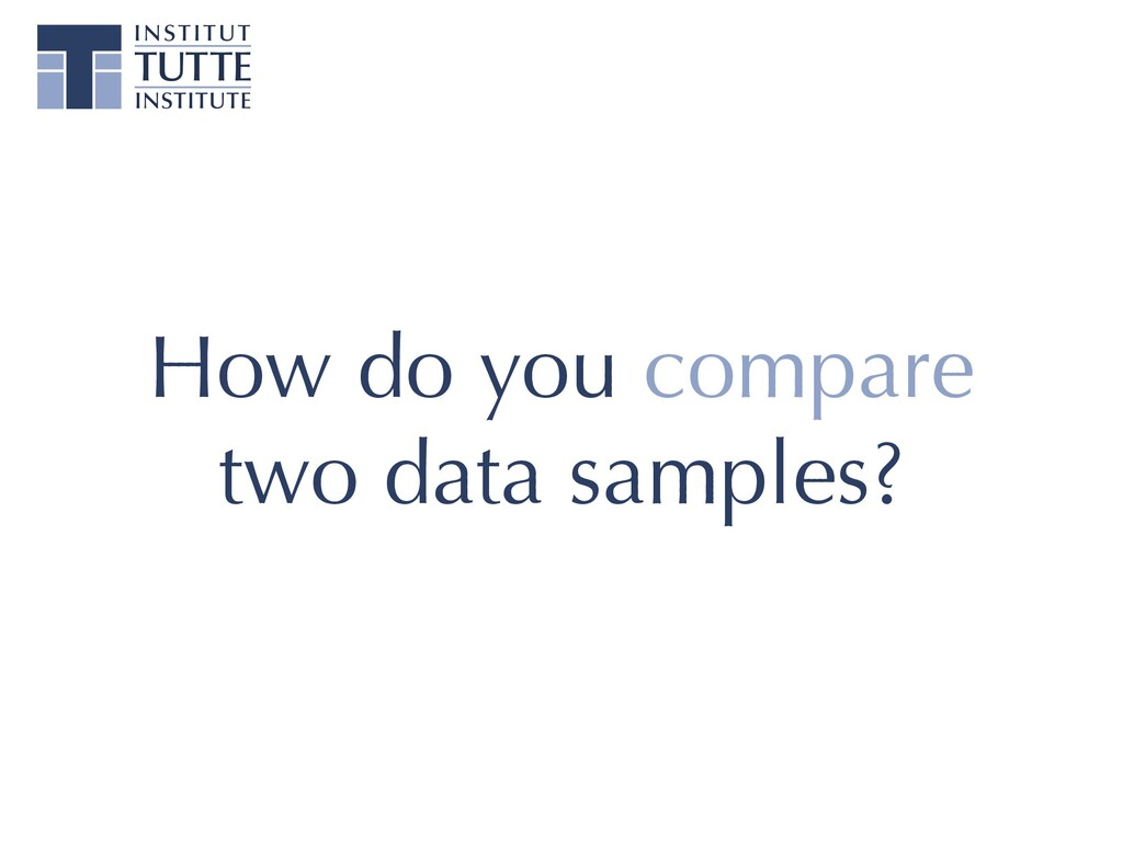 How do you compare two data samples?
