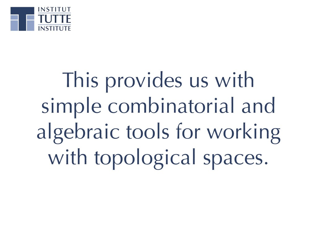This provides us with simple combinatorial and ...