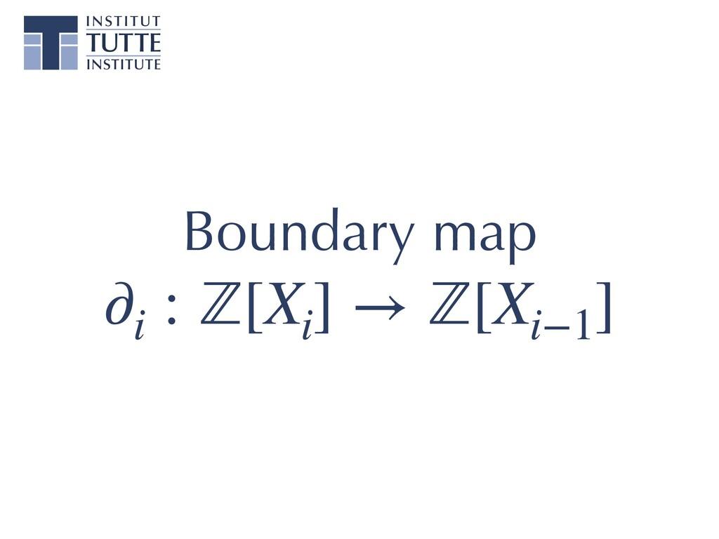 Boundary map ∂i : ℤ[Xi ] → ℤ[Xi−1 ]
