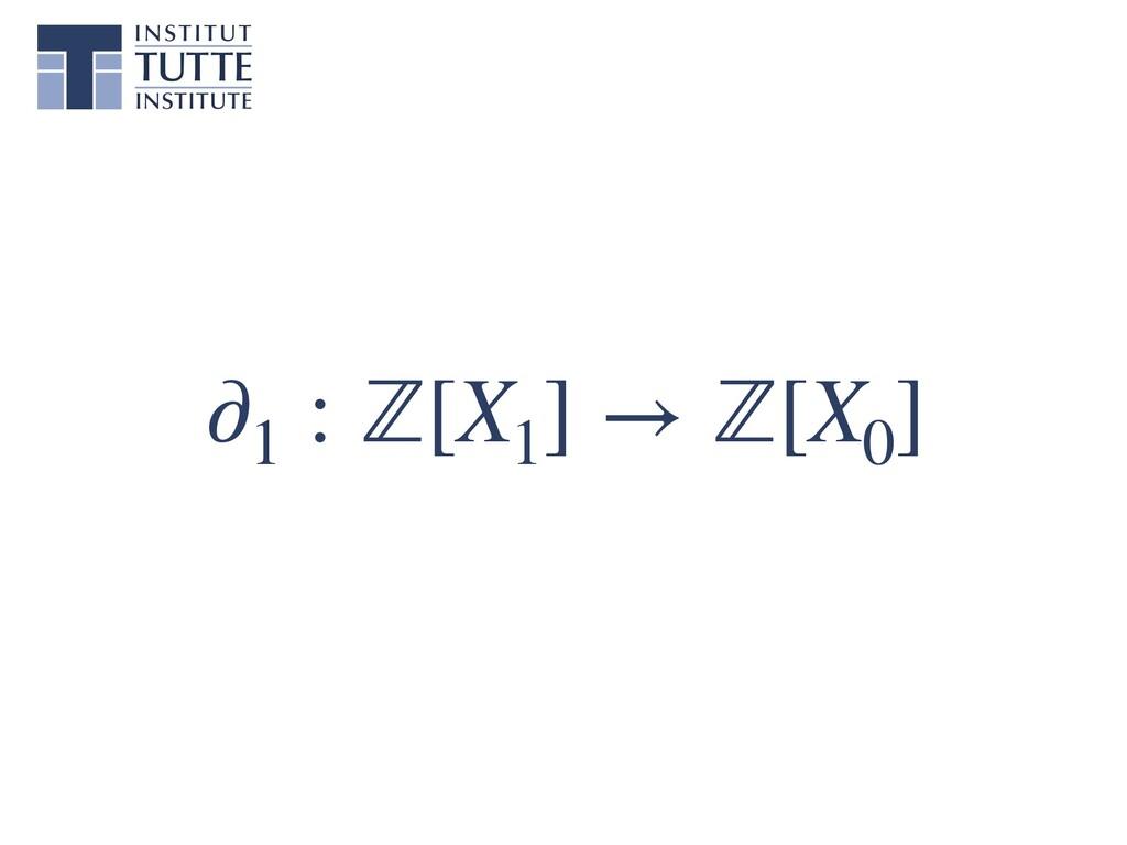 ∂1 : ℤ[X1 ] → ℤ[X0 ]
