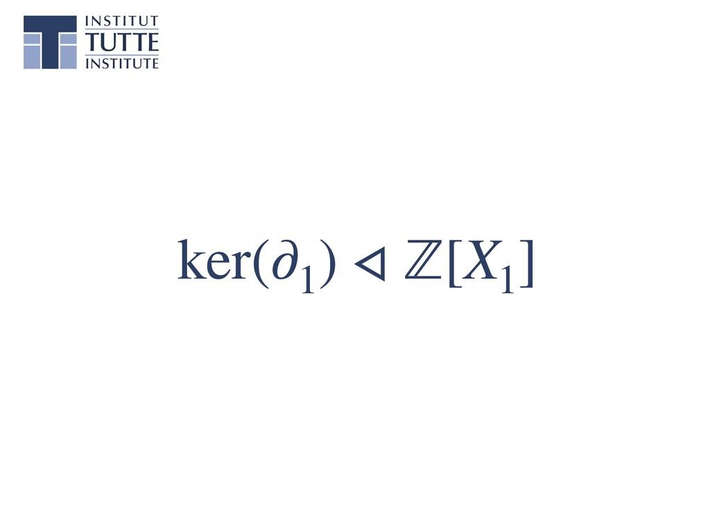 ker(∂1 ) ◃ ℤ[X1 ]