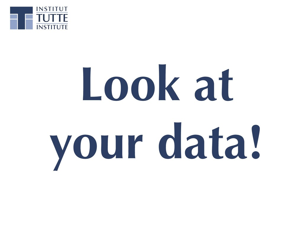 Look at your data!