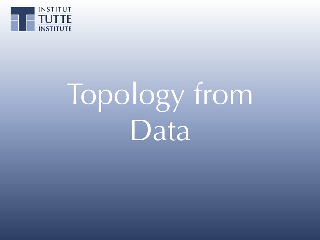 Topology from Data