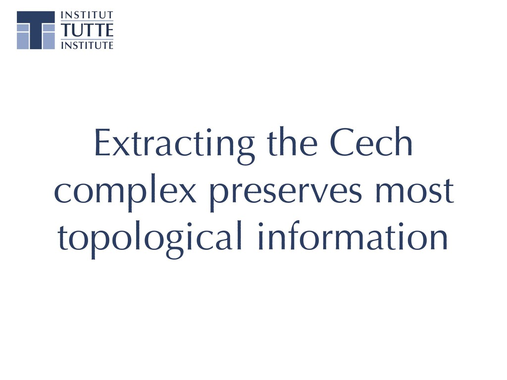Extracting the Cech complex preserves most topo...