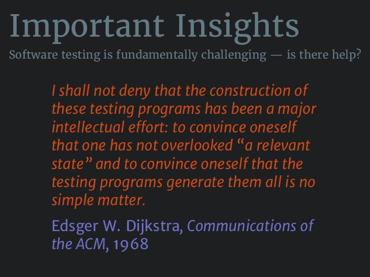 Important Insights Software testing is fundamen...