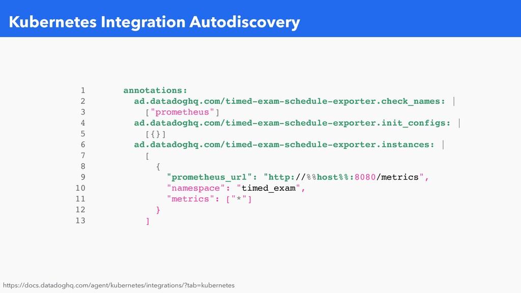 Kubernetes Integration Autodiscovery 1 annotati...
