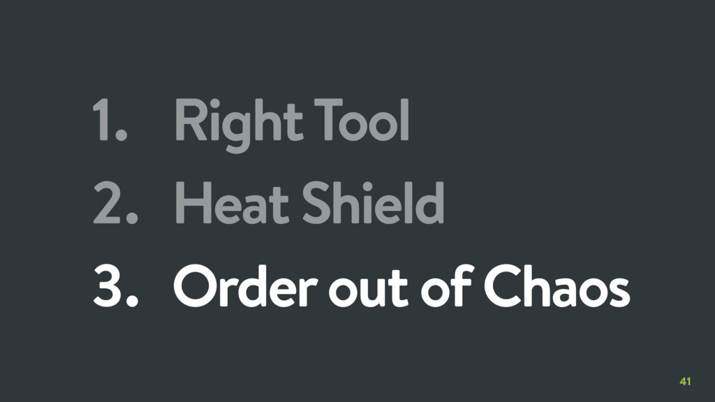 41 1. Right Tool 2. Heat Shield 3. Order out of...