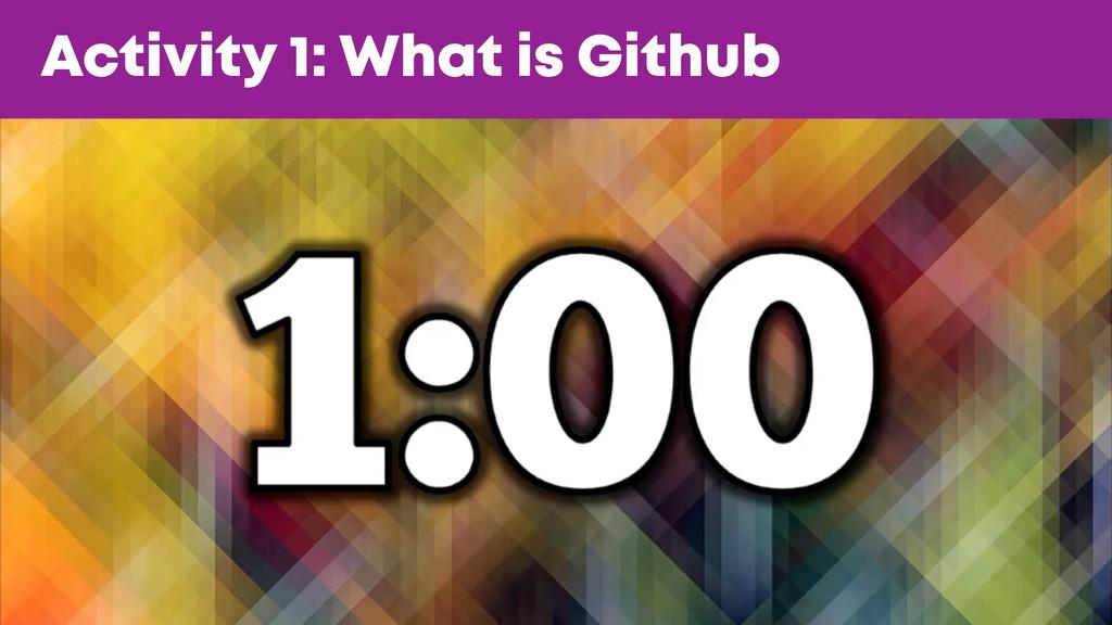 @JGFERREIRO @JGFERREIRO Activity 1: What is Git...