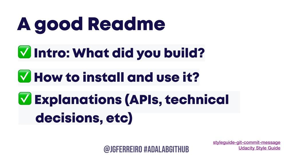 @JGFERREIRO @JGFERREIRO #ADALABGITHUB ✅ Intro: ...