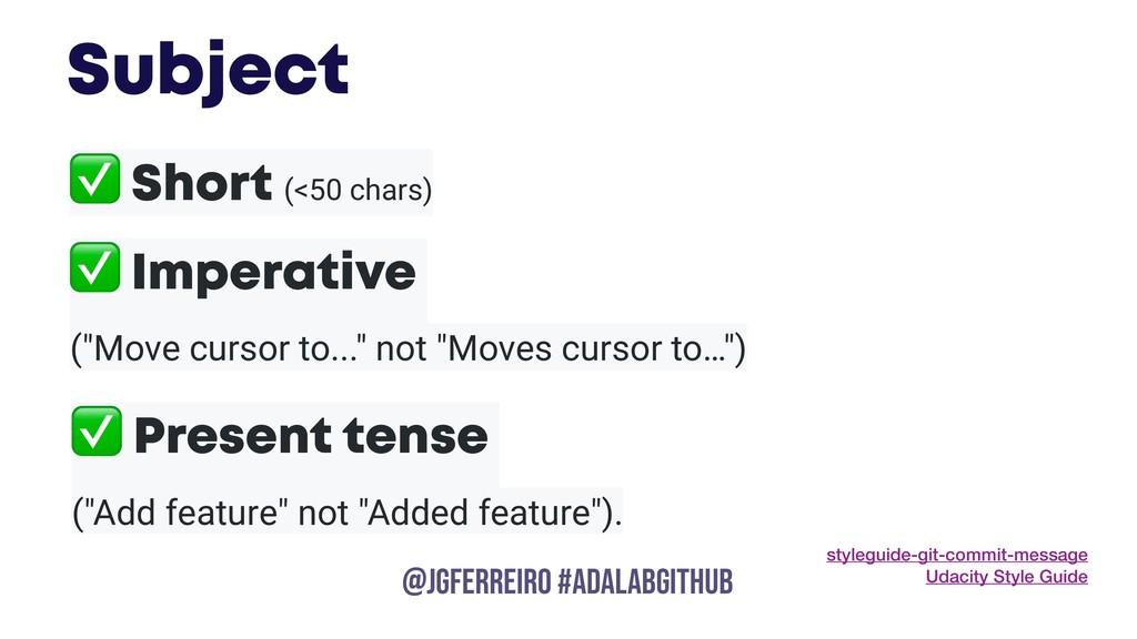 @JGFERREIRO @JGFERREIRO #ADALABGITHUB ✅ Short (...