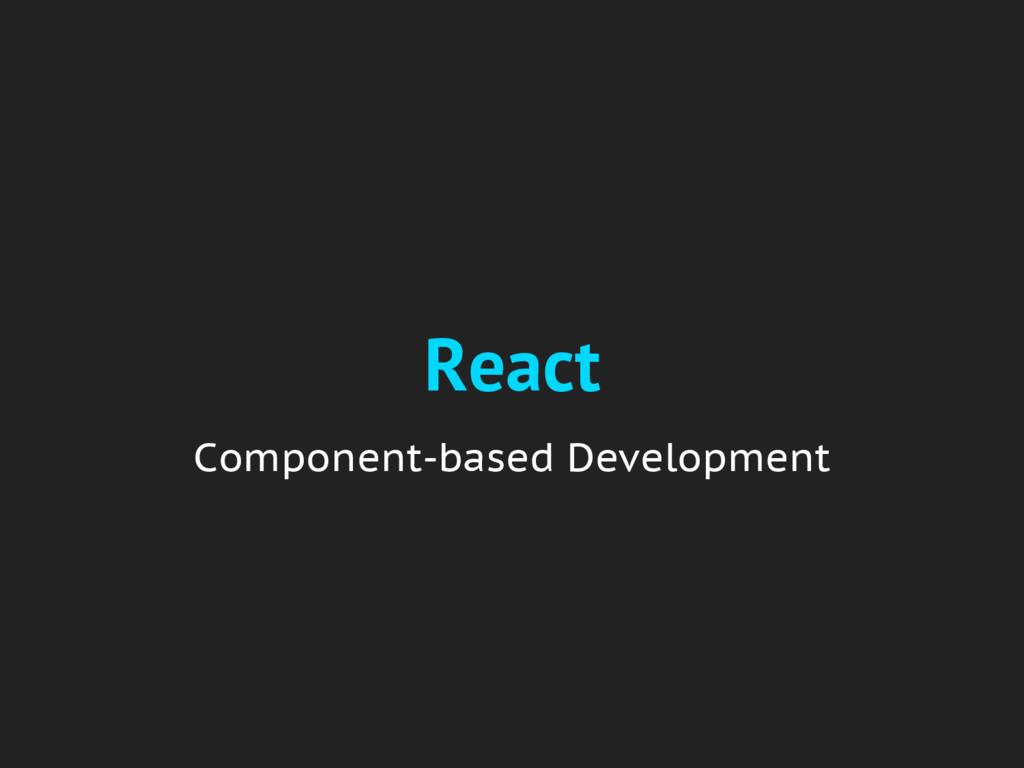React Component-based Development