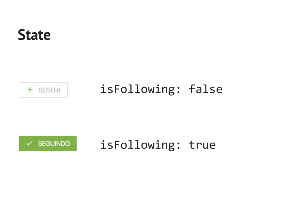 isFollowing: false State isFollowing: true