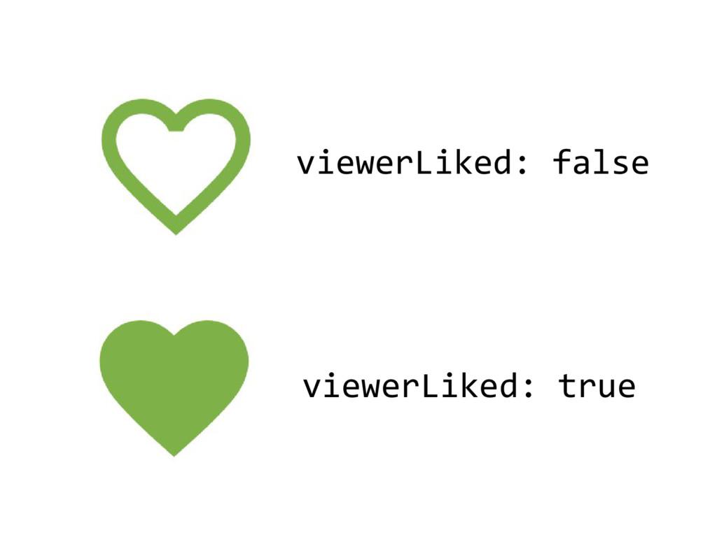 viewerLiked: false viewerLiked: true
