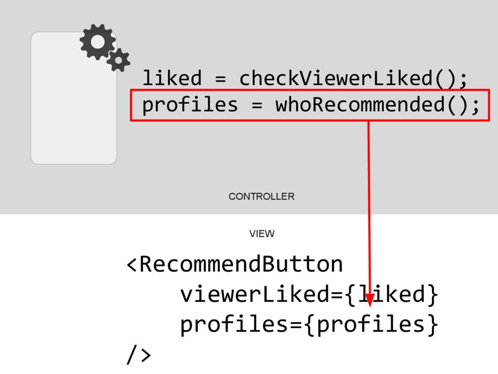 liked = checkViewerLiked(); profiles = whoRecom...