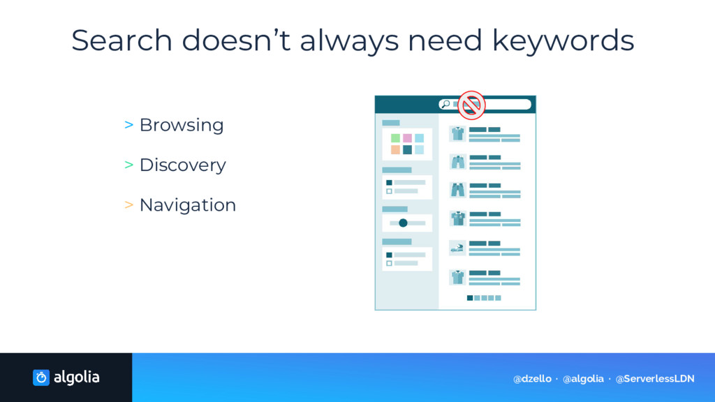 Search doesn't always need keywords > Browsing ...