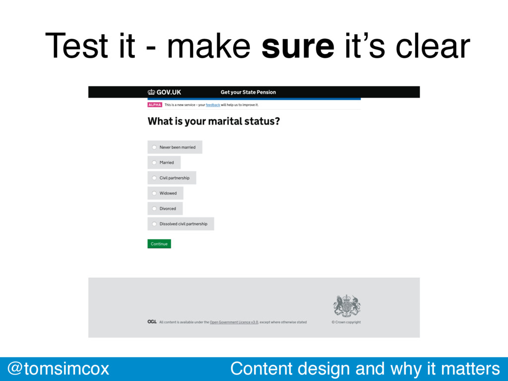 @tomsimcox Content design and why it matters Te...