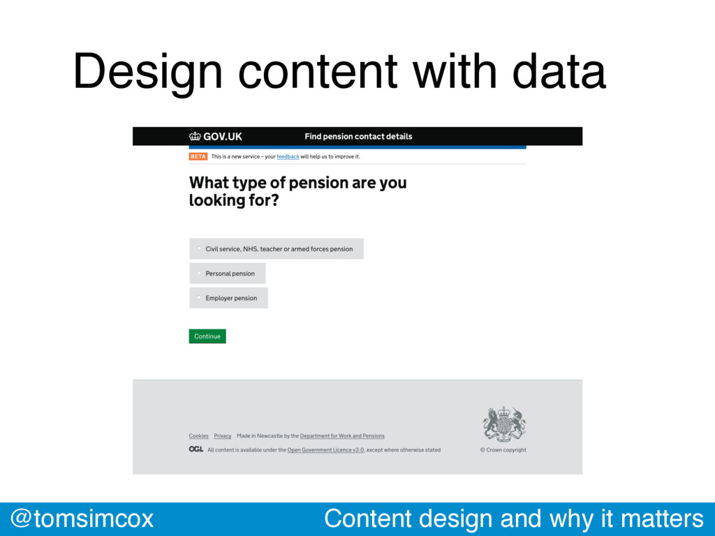 @tomsimcox Content design and why it matters De...