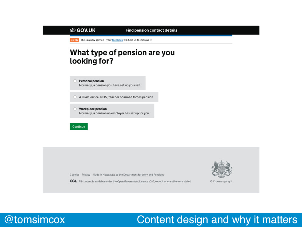 @tomsimcox Content design and why it matters