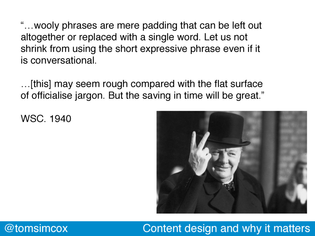 """@tomsimcox Content design and why it matters """"…..."""