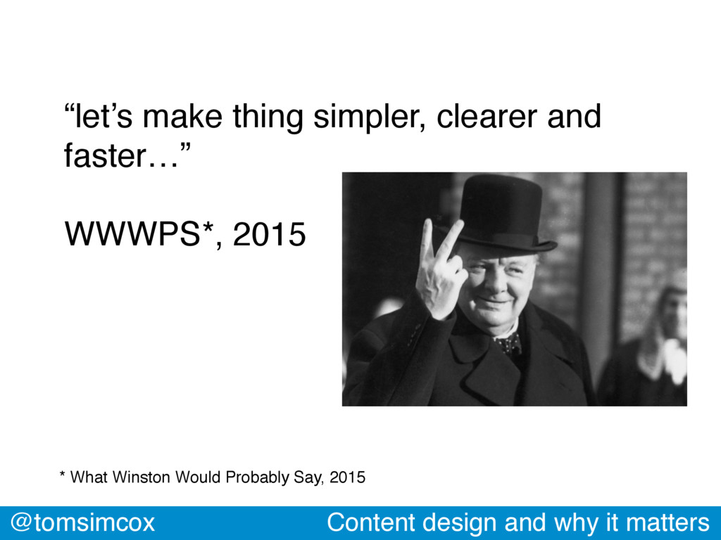 """@tomsimcox Content design and why it matters """"l..."""
