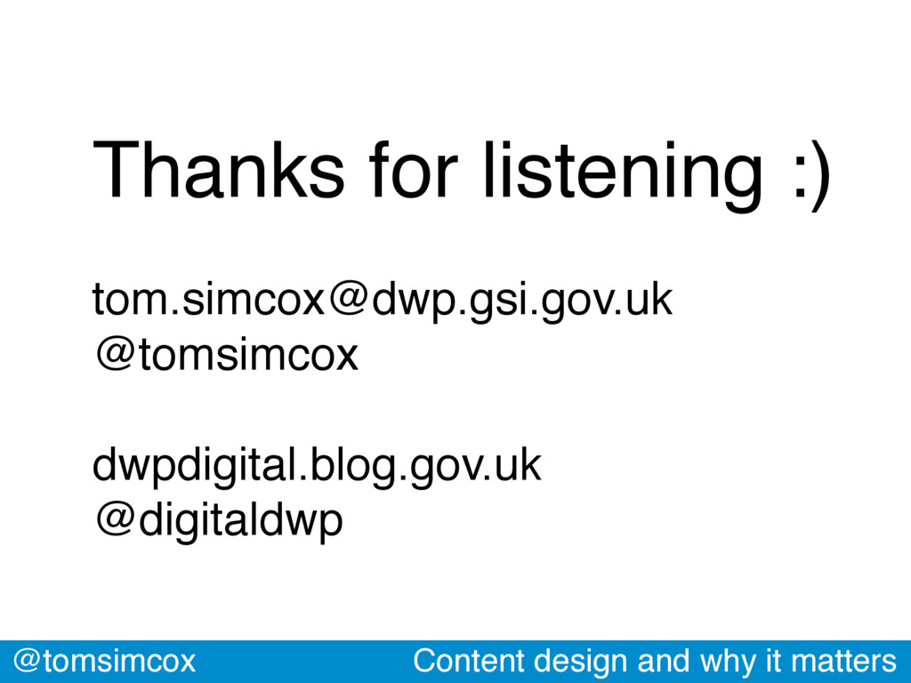 @tomsimcox Content design and why it matters Th...