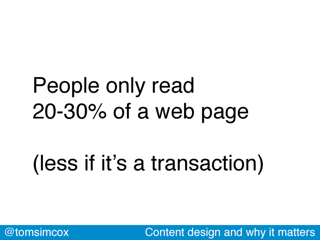 @tomsimcox Content design and why it matters Pe...