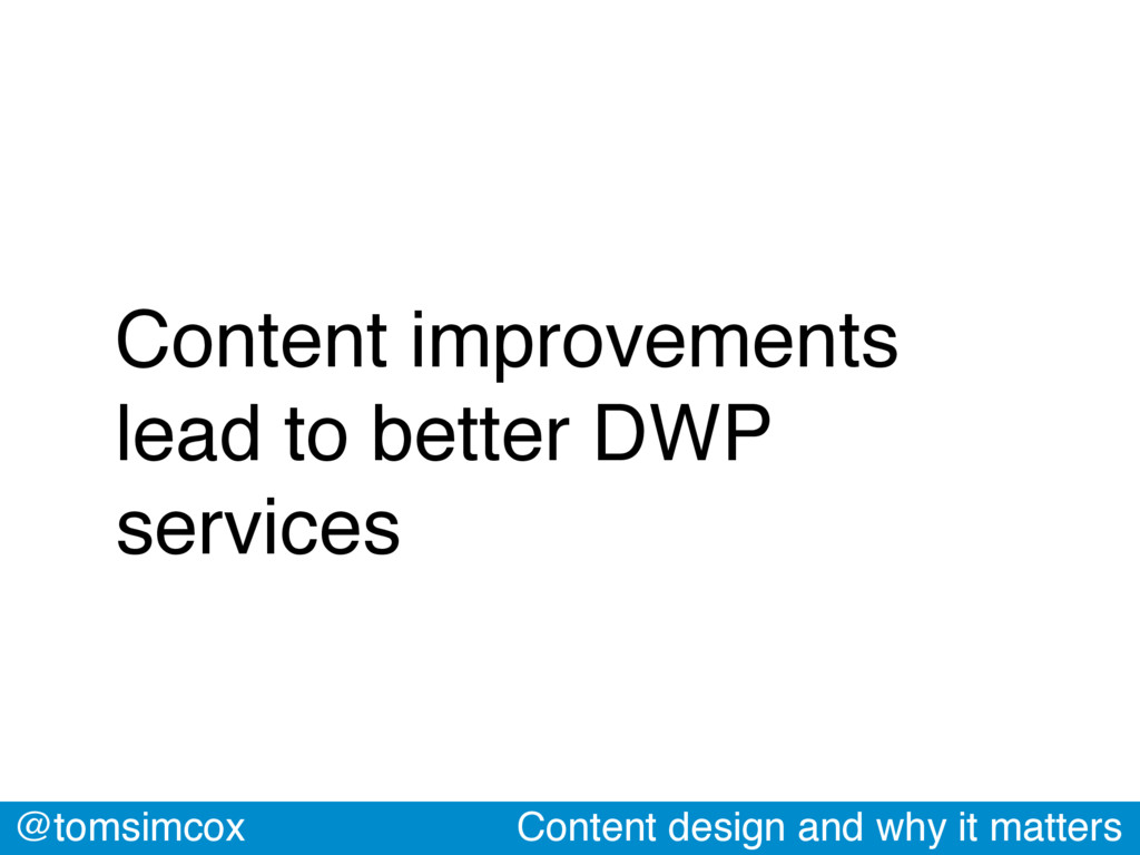 @tomsimcox Content design and why it matters Co...