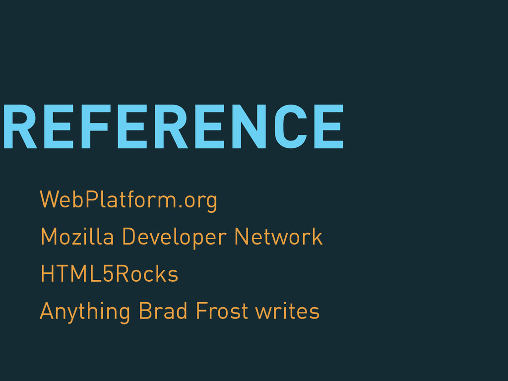 REFERENCE WebPlatform.org Mozilla Developer Net...