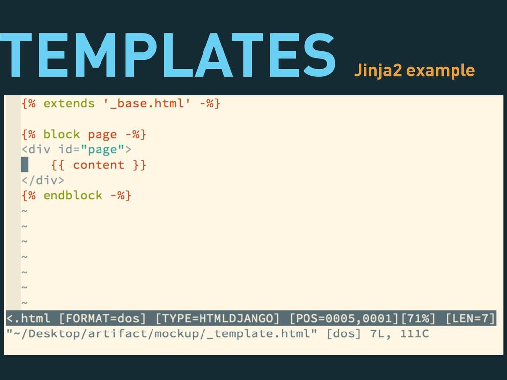 TEMPLATES Jinja2 example
