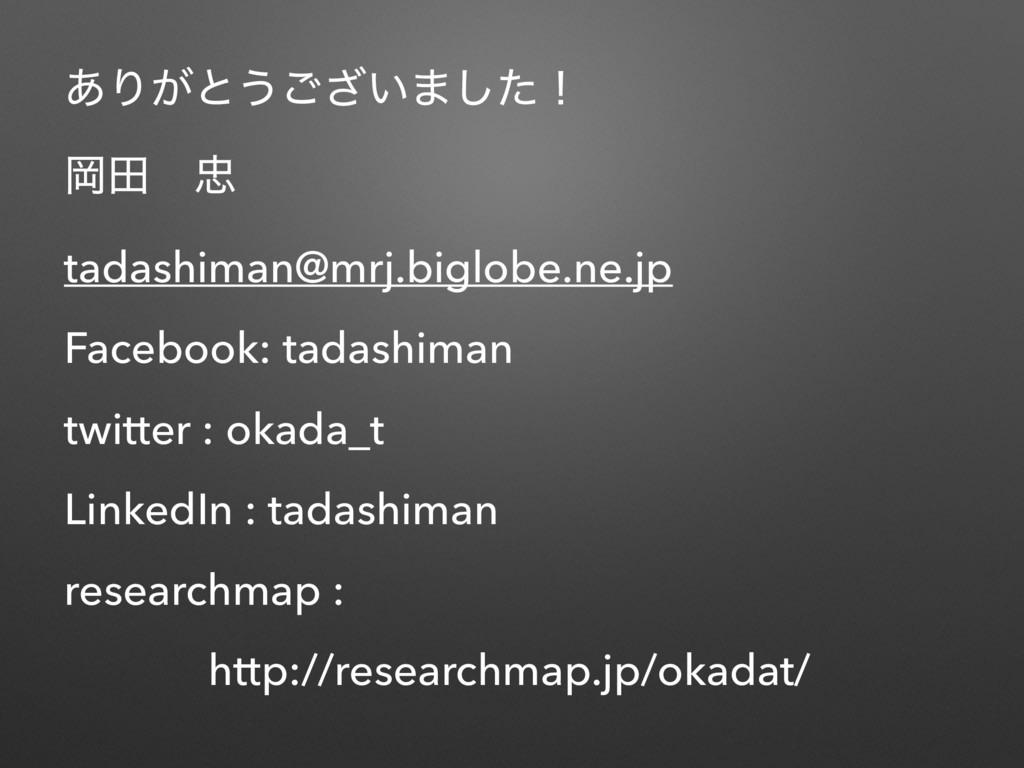 ͋Γ͕ͱ͏͍͟͝·ͨ͠ʂ Ԭాɹ tadashiman@mrj.biglobe.ne.jp ...