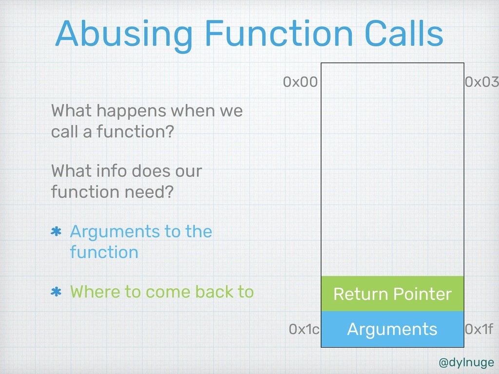 @dylnuge Return Pointer Arguments Abusing Funct...