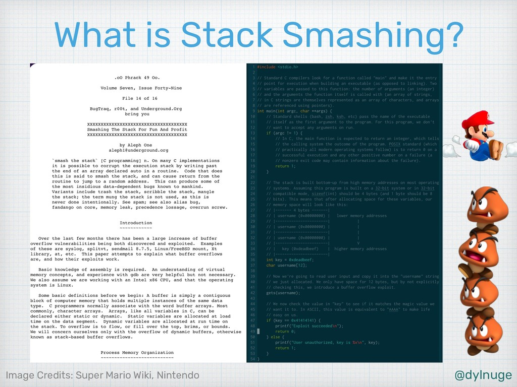 @dylnuge What is Stack Smashing? Image Credits:...