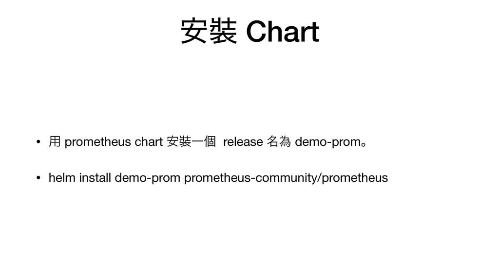҆ Chart • ༻ prometheus chart ҆Ұݸ release ໊ҝ d...