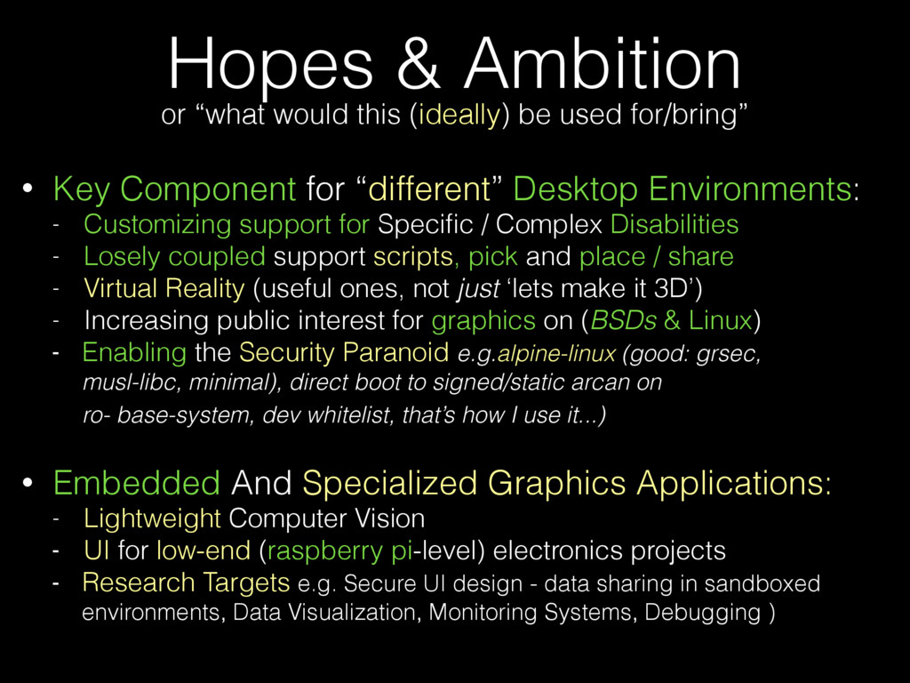 """Hopes & Ambition • Key Component for """"different..."""