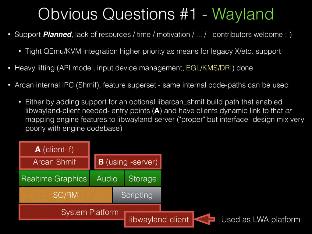 Obvious Questions #1 - Wayland • Support Planne...