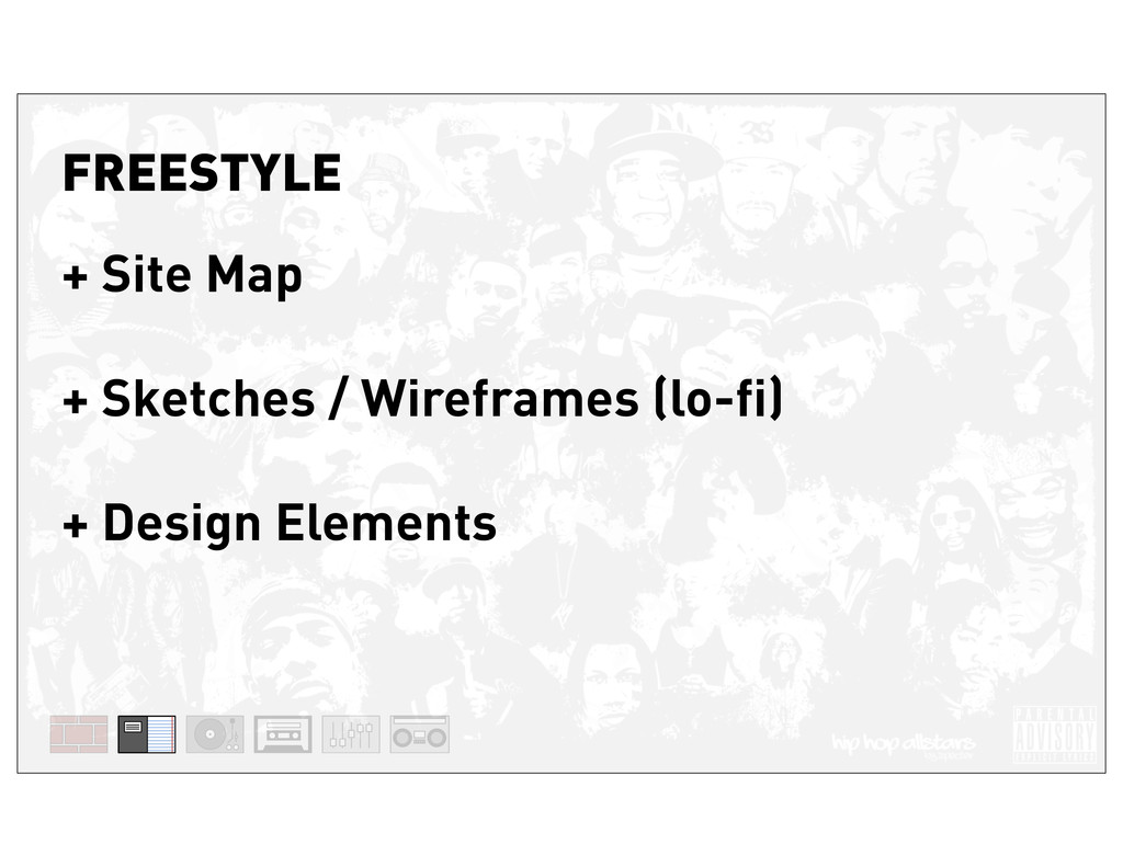 FREESTYLE + Site Map + Sketches / Wireframes (l...