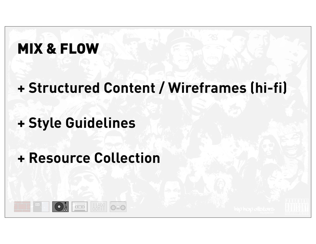 + Structured Content / Wireframes (hi-fi) + Sty...