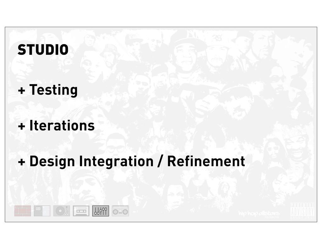 STUDIO + Testing + Iterations + Design Integrat...