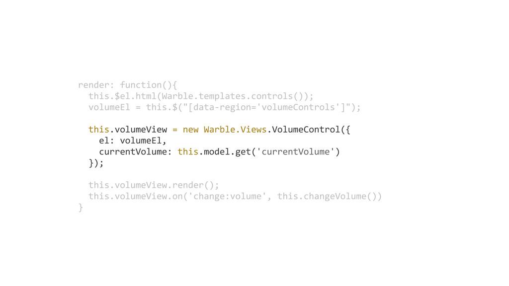 render: function(){   this.$el.html(Warble.t...