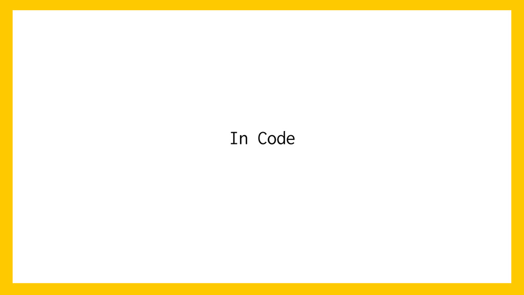 In Code