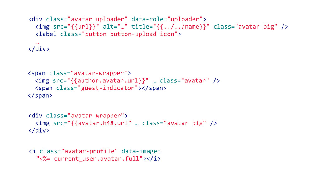 "<div class=""avatar-‐wrapper"">   <img src=""..."