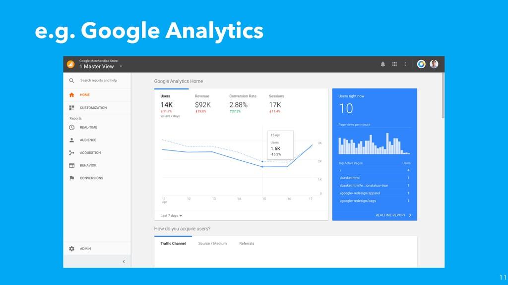 e.g. Google Analytics