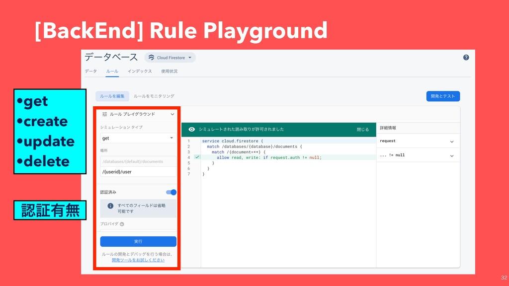 [BackEnd] Rule Playground •get •create •upda...