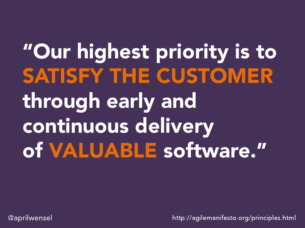 """""""Our highest priority is to SATISFY THE CUSTOME..."""