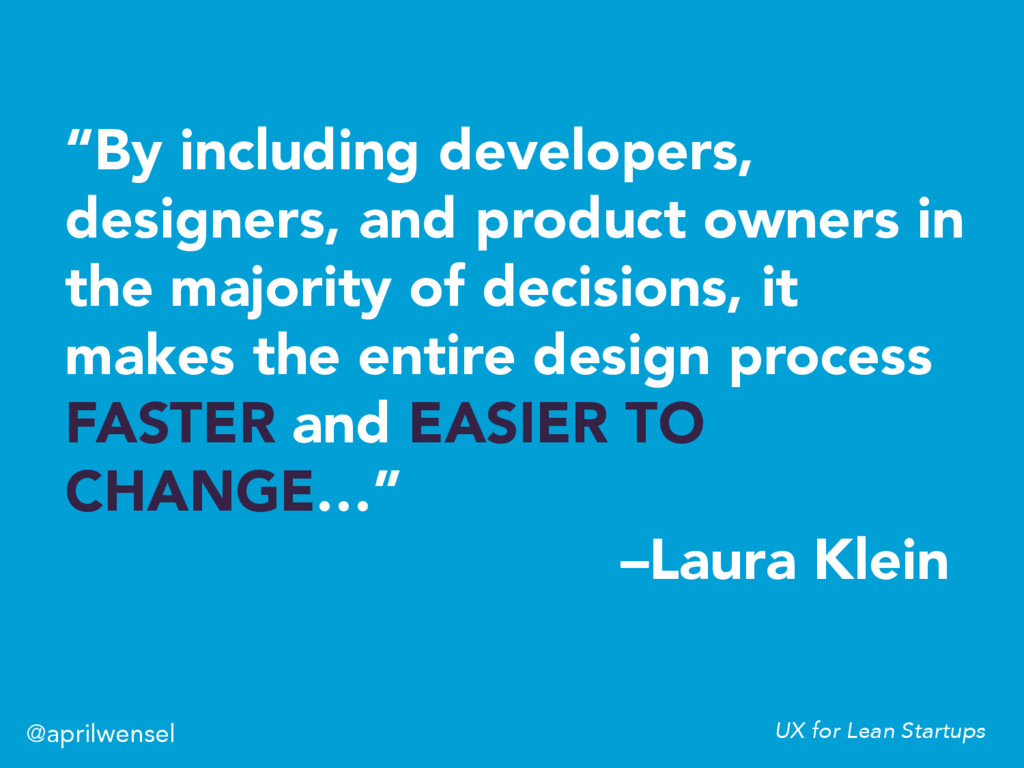 """""""By including developers, designers, and produc..."""