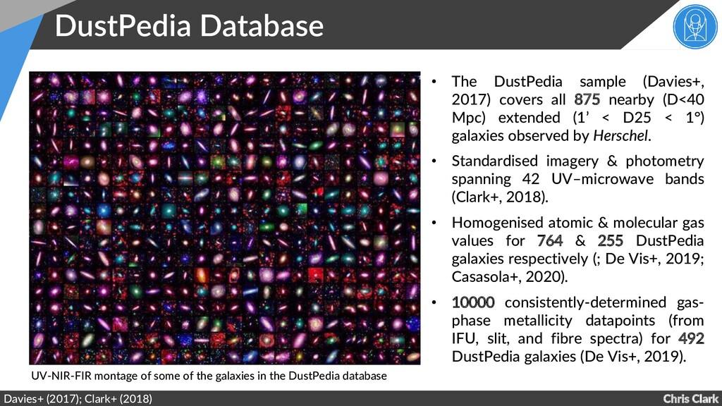 Chris Clark DustPedia Database Davies+ (2017); ...