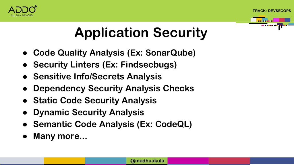 TRACK: DEVSECOPS ● Code Quality Analysis (Ex: S...